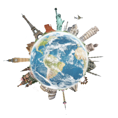 Globe with cities - bigger_transparent